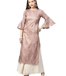 Pink Paisely Art Silk Kurta