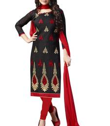 Black Embroidered Chanderi Salwar