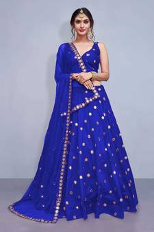 534481564a Blue Lehenga Online | Buy Blue Color Lehengas Designs @ Discounted ...