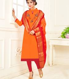 Orange banarasi cotton salwar