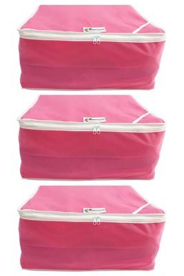 Shree Shyam Products Non Woven 9 Inch Non Transparent Box Saree Cover, 3 Pcs Set