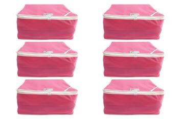Shree Shyam Products Non Woven 9 Inch Non Transparent Box Saree Cover, 6 Pcs Set