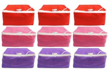 Shree Shyam Products Non Woven 9 Inch Non Transparent Box Saree Cover, 9 Pcs Set