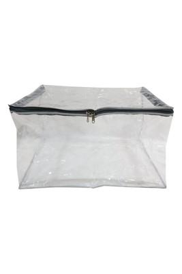 Shree Shyam Products Silver Transparent 12 Inch Box Saree Cover, 1 Pcs Set
