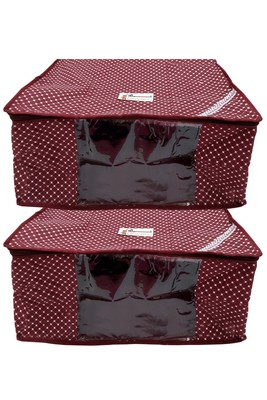 Shree Shyam Products Quilted Cotton Dot Printed 8 Inch, 2 Pcs Set