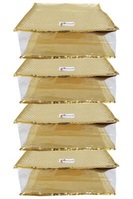 Shree Shyam Products Golden Dot Soft Plastic Box Saree Cover, 4 Pcs Set