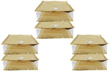 Shree Shyam Products Golden Dot Soft Plastic Box Saree Cover, 6 Pcs Set