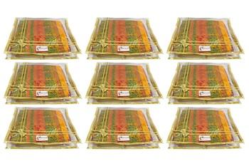 Shree Shyam Products Transparent Golden Bow 2 Inch Saree Cover, 9 Pcs Set