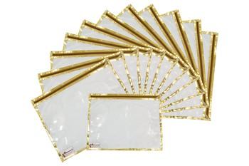 Shree Shyam Products Golden Transparent Single Saree Cover, 12 Pcs Set