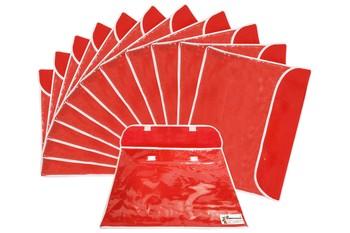 Shree Shyam Products Printed Non Woven Flap Single Saree Cover, 12 Pcs Set