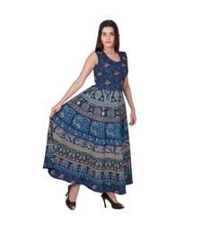 Jaipuri Stylist  Cotton Printed Women's Maxi Long Dress