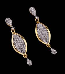 CZ Gold Sparkling Droplet Earrings