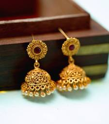 Southern Trance Floral Jhumka Earrings