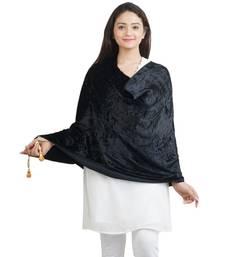 Black Velvet Shawl (65X200 cm)
