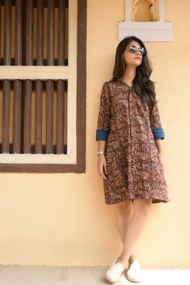 Kalamkari shirt dress