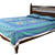 Blue Sanganeri Cotton Printed Double Bed Size Bedsheet