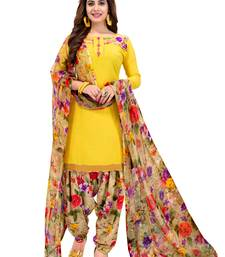 Multicolor printed synthetic salwar