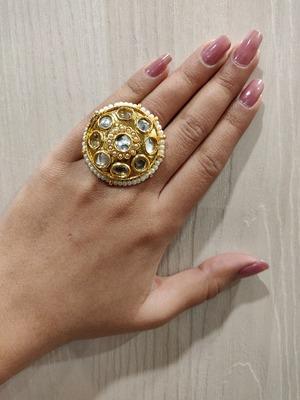 Gold Kundan Ring