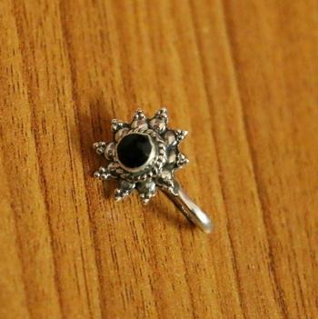 Black Onyx Nose Ring