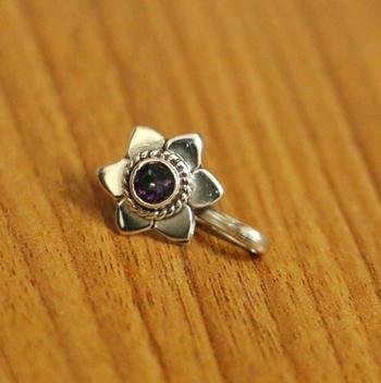 Purple Nose Ring