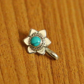 Turquoise Nose Ring