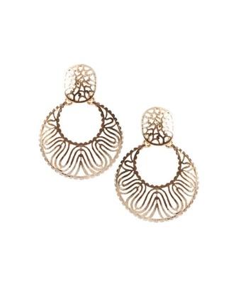 Golden  Wave Earrings