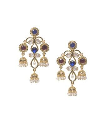 Electra Multi Jhumki Earrings