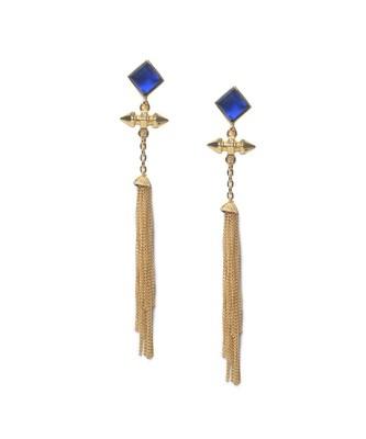 Sapphire Tassel Earrings