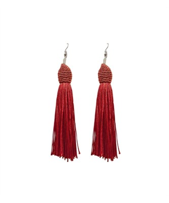 Mariachi Red Tassel Earrings