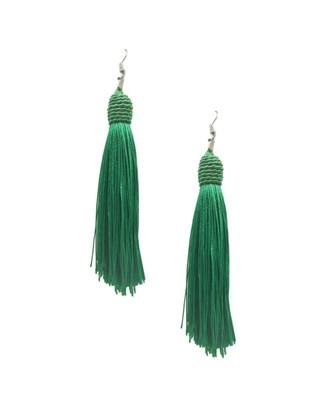 Mariachi Green Tassel Earrings