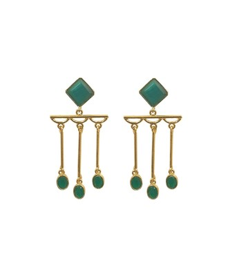 Shaze Green Dangler Earrings