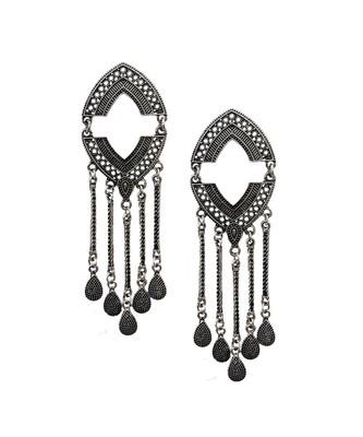 Silver Boho Tassel Earrings