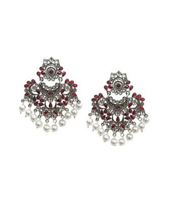 Nagina Red Statement Earrings