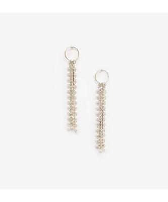 Hoop & Tassel Silver Earrings