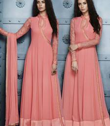Pink Embroidery Anarkali Suit