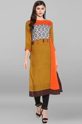 Multicolor printed rayon kurti