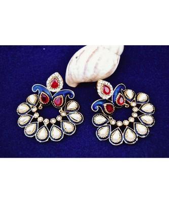Pearl Chand Bali Earrings