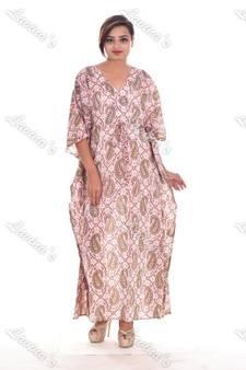 81c390164e Women Cotton Floral Indian Long Kaftan Hippie Evening Gown Caftan  Fashionable Plus Size Tunic