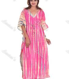 Block Printed Women Long Kaftan Floral Handmade Plus Size Maxi Dress Nightgown Tunic Boho Kurti