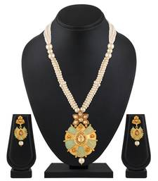 Alert Multistone Ad Two Tone Victorian Style Ethnic Pendant Bollywood Jewellery India Bridal & Wedding Party Jewelry Jewelry & Watches