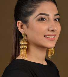 Gold Multiple Jhumki Tassels Earrings