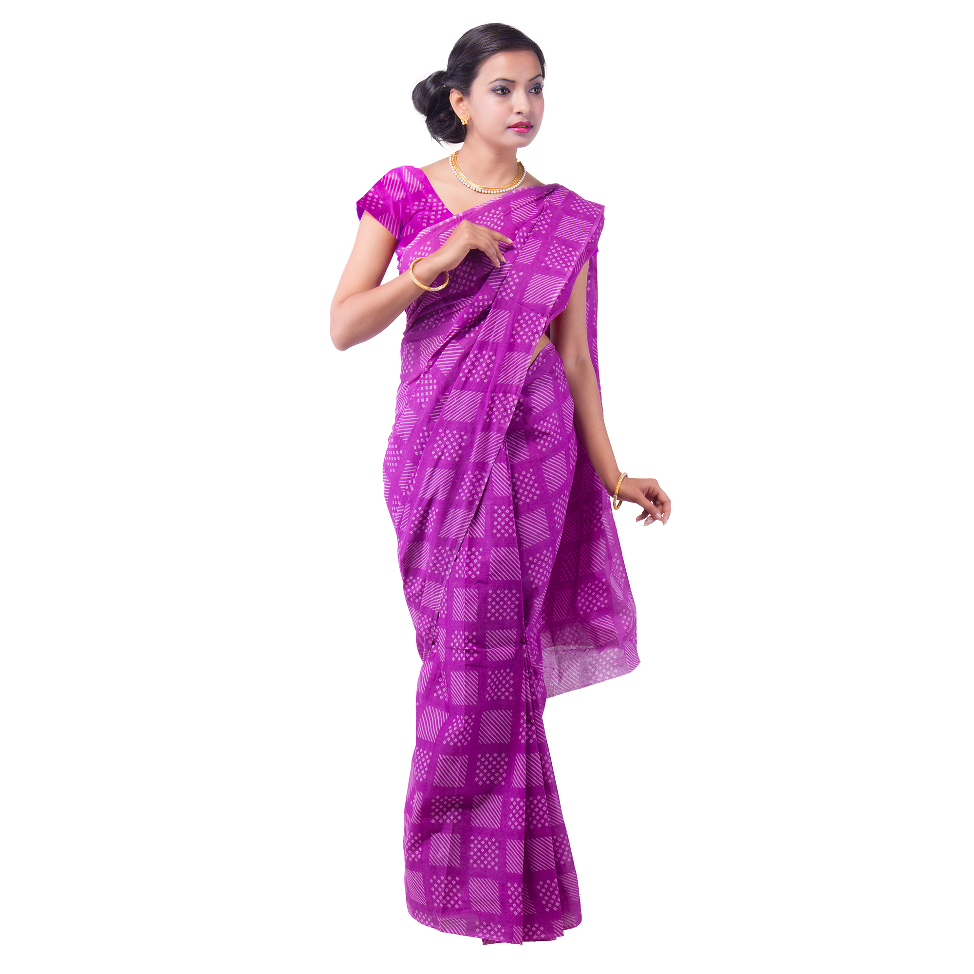 Blouse Cotton Saree Online