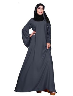 Silver embroidered nida burka