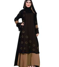 Beige embroidered nida burka