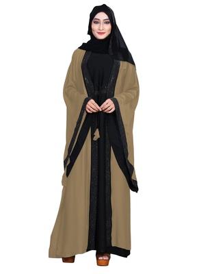 Ivory embroidered nida burka