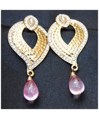 Pink Drop Dangler Earrings