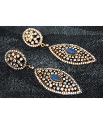 Diamond Lapiz Dangler Earrings