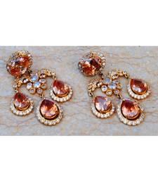 Champagne Diamond Drops Dangler Earrings