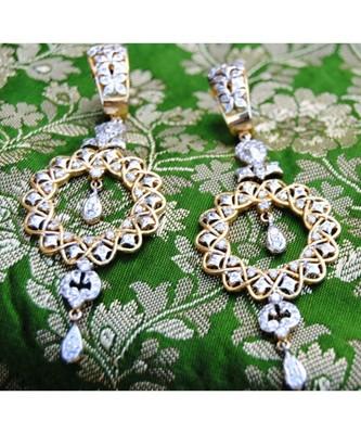 Silver Gold Dangler Earrings