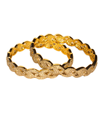 Exclusive Gold Plated triangular pattern Bangles